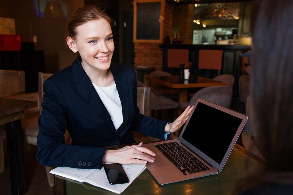 podnikateľka, úsmev